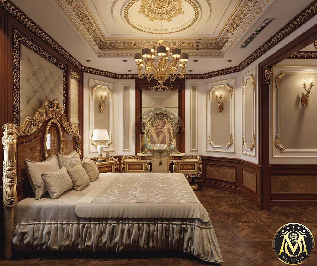 Nội thất phòng ngủ phong cách tân cổ điển giường ngủ