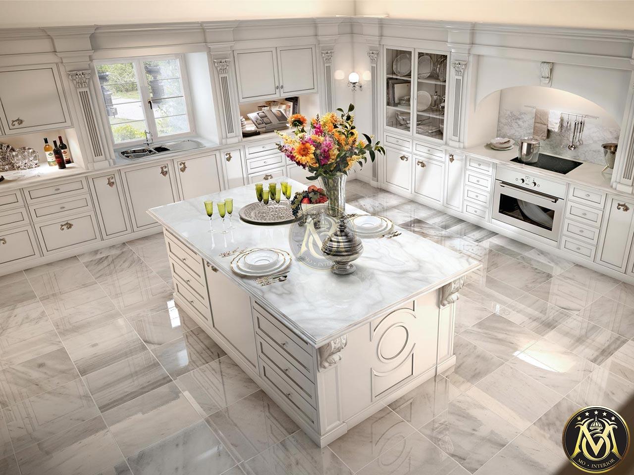 Mẫu phòng bếp tân cổ điển đẹp