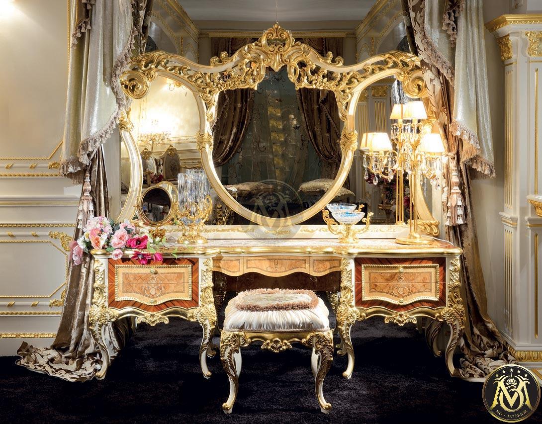 Nội thất phòng ngủ phong cách tân cổ điển bàn trang điểm
