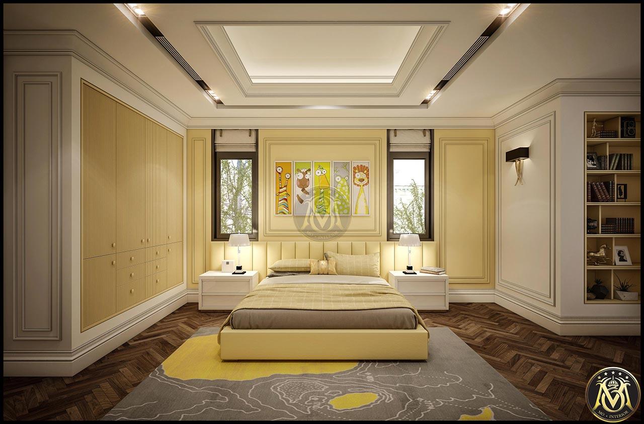 Nội thất phòng ngủ phong cách tân cổ điển cho bé trai