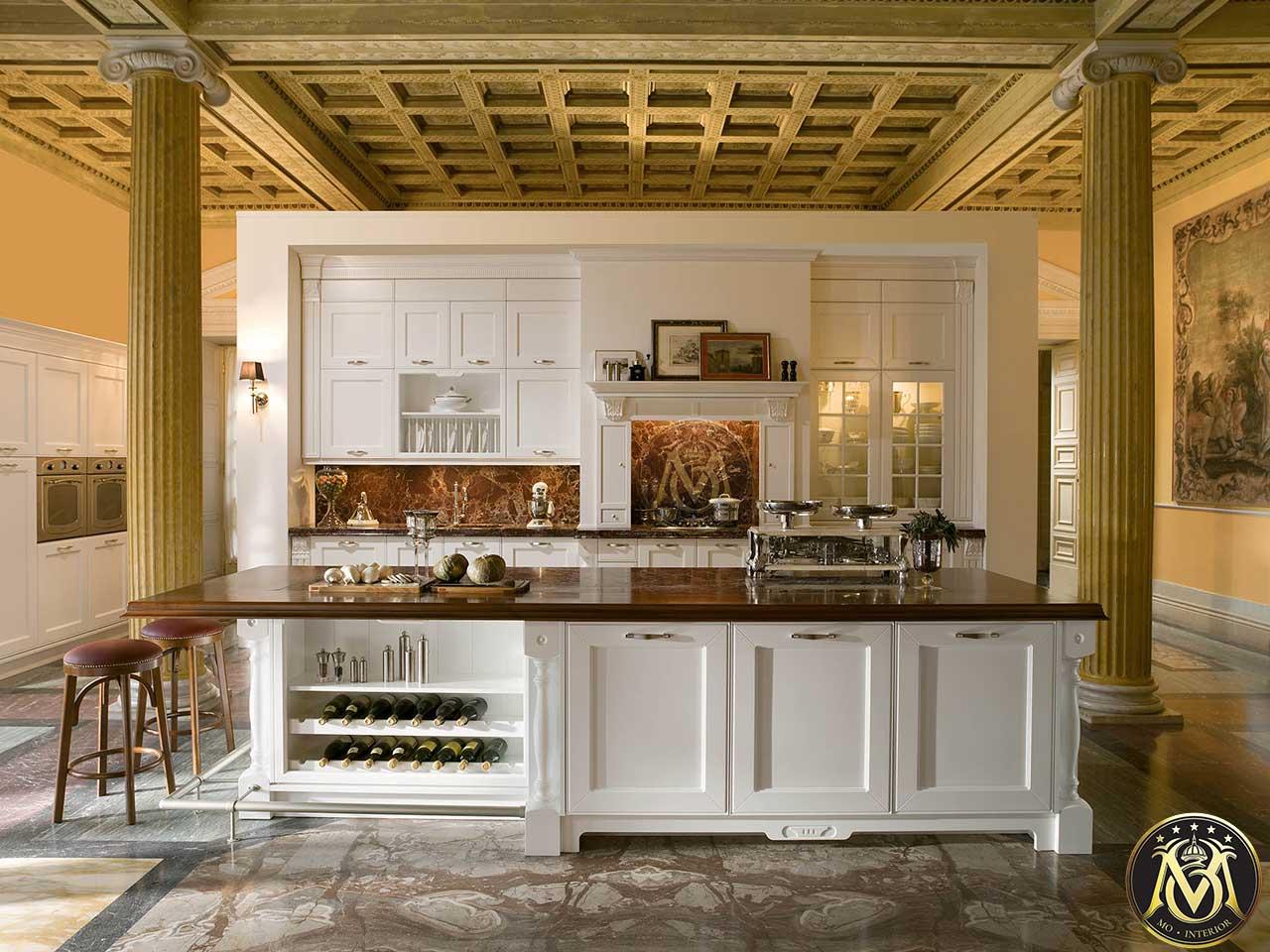 tủ bếp có quầy bar
