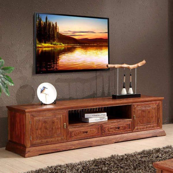 kệ tivi bằng gỗ gụ